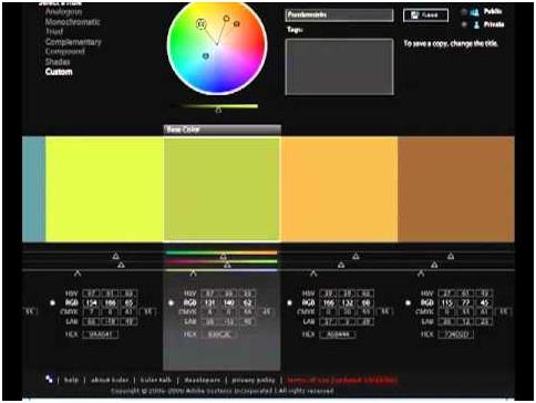 Colours and web design